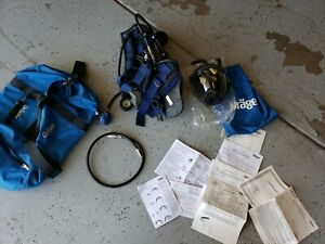 Drager Airboss Evolution Pss100 Scba Harness And Mask New Old Stock Kit