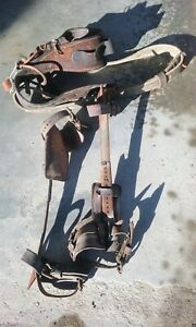 Antique Lineman Pole Climbing Climbers W climbing Belt 1940 s