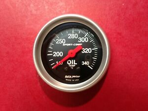 Auto Meter 3346 Sport comp Oil Temperature Gauge
