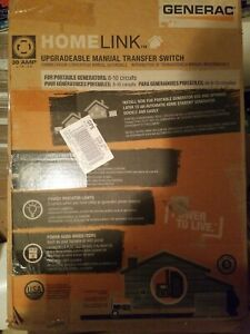 Generac Homelink 6853 30 amp Upgradeable Manual Transfer Switch Kit Pre wired