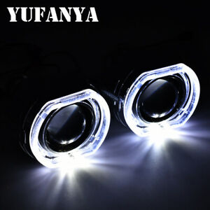 2 5 Hid Bixenon Projector Lens Square Led Angel Eyes Car Drl For Bmw Headlight