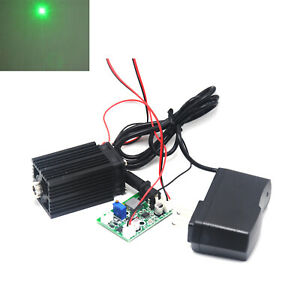 Focusable 532nm 80mw Green Laser Diode Dot Module 12v W ttl Driver Adapter