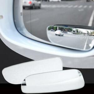 Car Motorcycle Blind Spot Side Rear View Mirror Adjustable Extra Wide Angle View