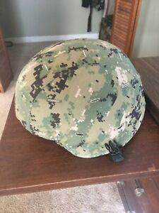US Navy MSA ACH Kevlar Helmet NWU Type III Cover Size Large TEAM WENDY UPGRADES