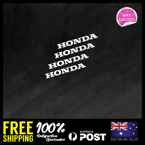 4x Honda Extra Small Sticker Decal Motocross Weather Shield Car 80x10mm
