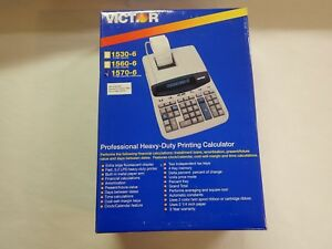 Victor 1570 6 Two color Ribbon Printing Calculator Black red Print 5 2 Lines sec