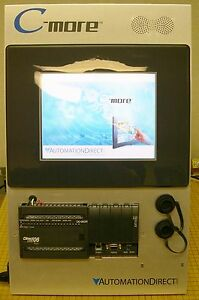 Automation Direct C more Cmore Operator Interface Demo Stand With Dl06 Used