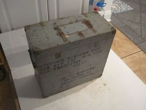 Antique Us Navy Wooden Shipping Box Crate