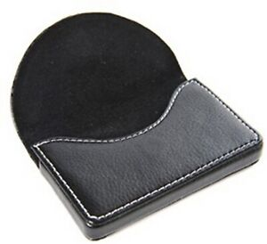 Flip Style Leather Business Name Card Wallet Holder 25 Cards Case