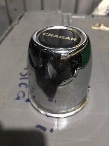 1 Single Vintage Cragar Push Through Wheel Center Black Cap