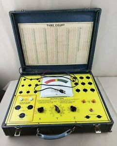 Shell Electronic Test o matic Vacuum Tube Vibrator Tester In Case