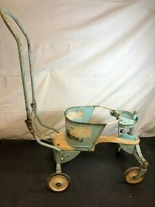 Vintage Taylor Tot Metal Baby Stroller Walker For Parts Restoration