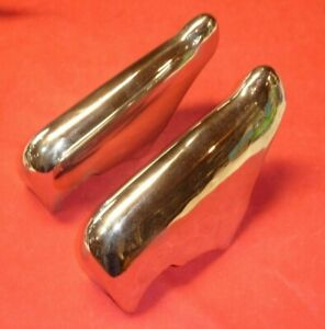 1951 Ford Bumper Guard Set Front Pair Decent driver Chrome Bolts Included