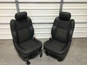 2003 2018 Dodge 1500 2500 3500 Front Seats Black Leather Cloth