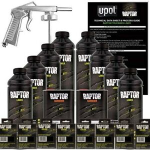 U Pol Raptor Navy Blue Urethane Spray On Truck Bed Liner W Free Spray Gun 8l