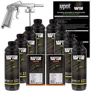 U Pol Raptor Sepia Brown Urethane Spray On Truck Bed Liner W Free Spray Gun 8l