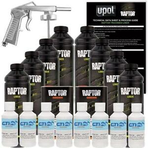 U Pol Raptor Bright White Urethane Spray On Truck Bed Liner W Free Spray Gun 8l