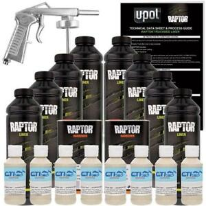 Upol Raptor Shoreline Beige Urethane Spray On Bed Liner Kit W Free Spray Gun 8l