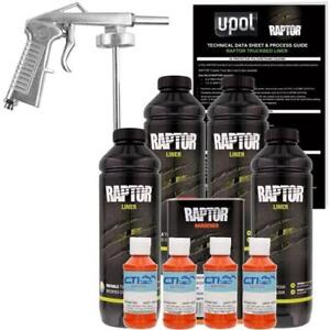 Upol Raptor Orange Crush Urethane Spray On Truck Bed Liner W Free Spray Gun 4l