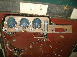 1968 Gto Rally Gauges W Tach Harness Non Ac Heater Control Wood Grain Bezel