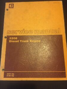 Cat Caterpillar 3208 Truck Engine Service Shop Repair Book Manual 32y 51z