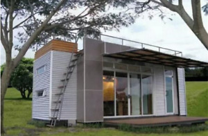 24 Ft Pre fab Container Modular Home 192 Sqft W Roofdeck New Financing