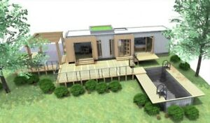 1 Bd 1 Bth 320 Sq Ft Luxury Landscaped Shipping Container Home