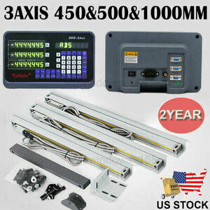 450 500 1000mm 3axis Digital Readout Ttl Linear Glass Scale Dro Milling Lathe us