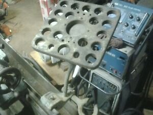 South Bend Heavy 10 5c Collet Rack rod Bed Clamp and Closer Holder Wood 1943