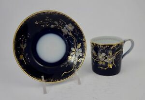 Antique Russian Kuznetsov Demitasse Cup Saucer