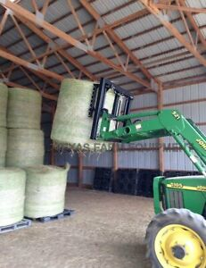 Round Bale Mover Stacker Grabber Squeeze For Skid Steers Front End Loaders