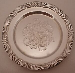 Tiffany Co Wave Edge Pattern Sterling 3 Individual Butter Pats C 1902 07