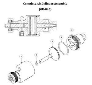 Spray Foam Equipment Ap 2 Air Cylinder Assembly complete Kit Gu 845