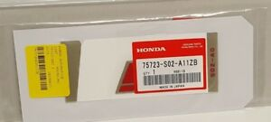 75723 s02 a11zb Oem Honda Civic Si Rear Decal Raised Made In Japan