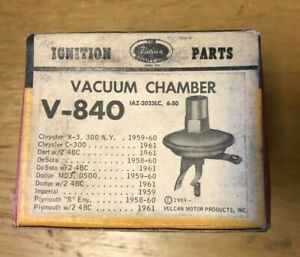 1959 1960 Chrysler 300 Dodge Plymouth Vacuum Chamber 1959 Imperial V 840 Brc
