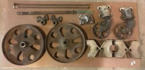 Chas E Francis Antique Industrial Furniture Factory Railroad Cart Parts