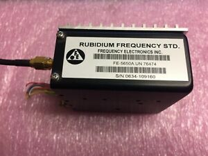 Fei Fe 5650a Rubidium Oscillator 15mhz 15v Digital Efc With Heatsink