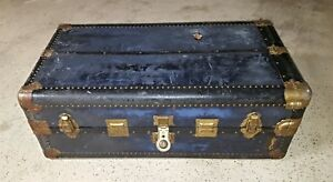 Hartmann Steamer Wardrobe Trunk Chest W Lock Keys Repurpose Furniture Antique