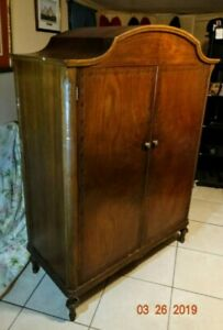 Antique Armoire Closet Wardrobe By Athens Furniture Company Est 1885