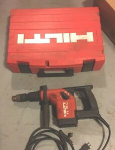 Hilti Rotary Hammer Drill Te 15 c With Bosch Chuck And Case Chipping Gun