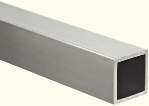 Aluminum Hollow Square Tube 1 1 4 I d X 1 1 2 O d X 72 Long 1 8 Wall