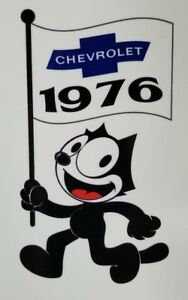 Felix The Cat 1976 Chevrolet Die Cut Decal Chevy Impala Lowrider Hot Rod C10 Usa