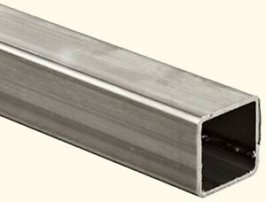 Stainless Steel Hollow Square Tube 1 3 8 I d X 1 1 2 O d X 6 Ft Long 304