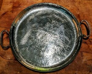 Vintage Gorham Silver Plate And Hand Hammered Copper Tray