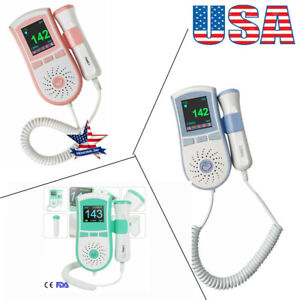 Pocket Fetal Doppler Baby Prenatal Heart Rate Monitor 3mhz Probe For Pregnancy U