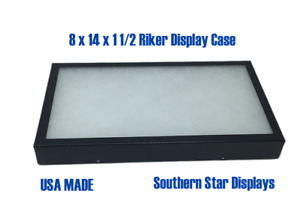 8 X 14 X 1 1 2 Riker Display Case Box For Collectibles Arrowheads Jewelry more