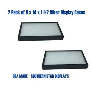 2 Pack Of 8 X 14 X 1 1 2 Riker Display Case Box Collectibles Arrowheads Jewelry