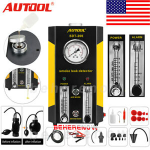 New 2019 Autool Sdt206 Car Smoke Machines Pipe Smoke Leak Detector Evap System