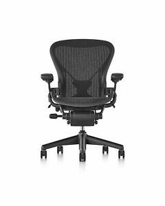 Herman Miller Ae213awbpjg1bbbk3d01 Classic Aeron Chair Size B Posture Fit