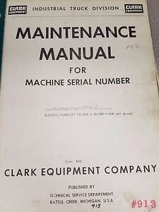 Clark Forklift Ec40b Maintenance Manual
